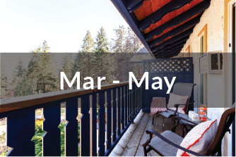 Kokanee Standard Suite Mar to May | two standard beds | one bathroom | with balcony