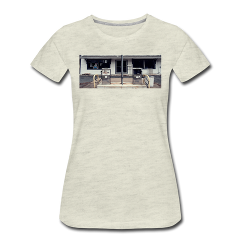 Women's Gas Station T-Shirt - heather oatmeal
