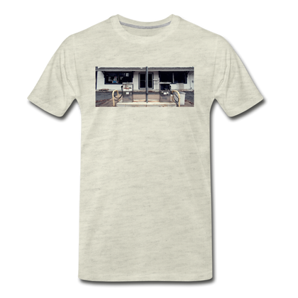 Men's Gas Station T-Shirt - heather oatmeal
