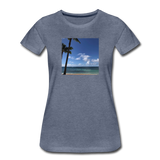 Women's Beach T-Shirt - heather blue