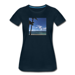 Women's Beach T-Shirt - deep navy