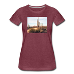 Women's Cactus T-Shirt - heather burgundy