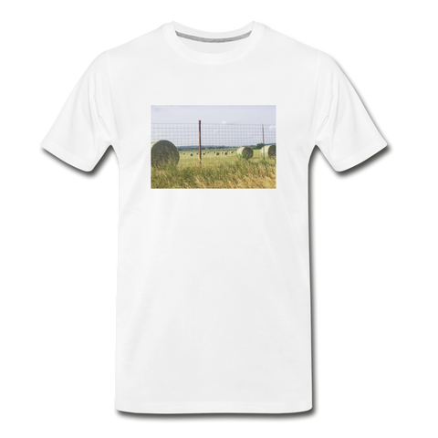 Men's Hay Barrel T-Shirt - white