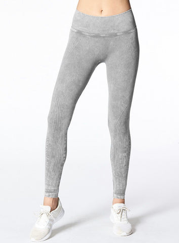 High Rise Mesa Legging in Mineral Wash - Stone
