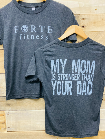 Kid's My Mom is Stronger Than Your Dad T-Shirt