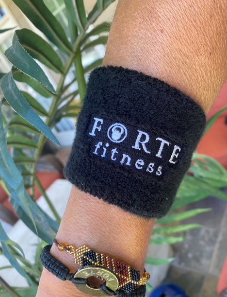 Forte Fitness Black Wrist Bands