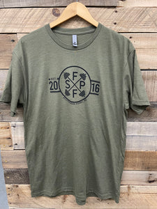 Est 2016 Anniversary T-Shirt - Military Green