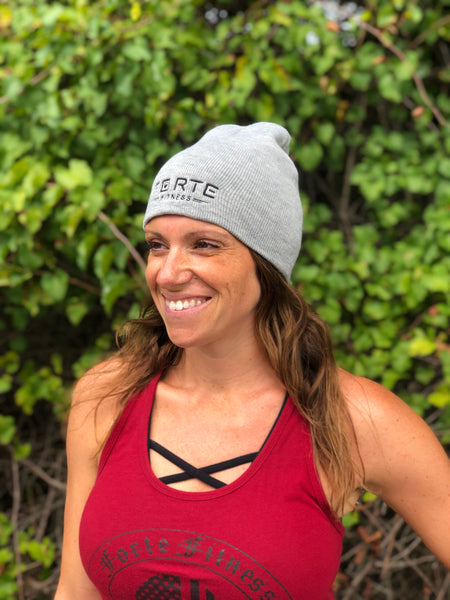 Forte Fitness Beanies with Embroidered New Logo