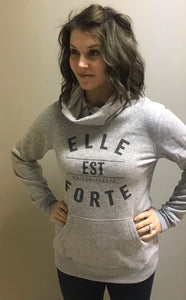 Forte Fitness Heathered Grey Lightweight Fleece Hoodie - Elle Este Forte
