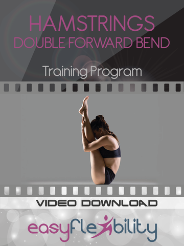 easyflexibility double forward bend fold yoga gymnastics hamstrings flexibility kinesiological stretching hip flexors