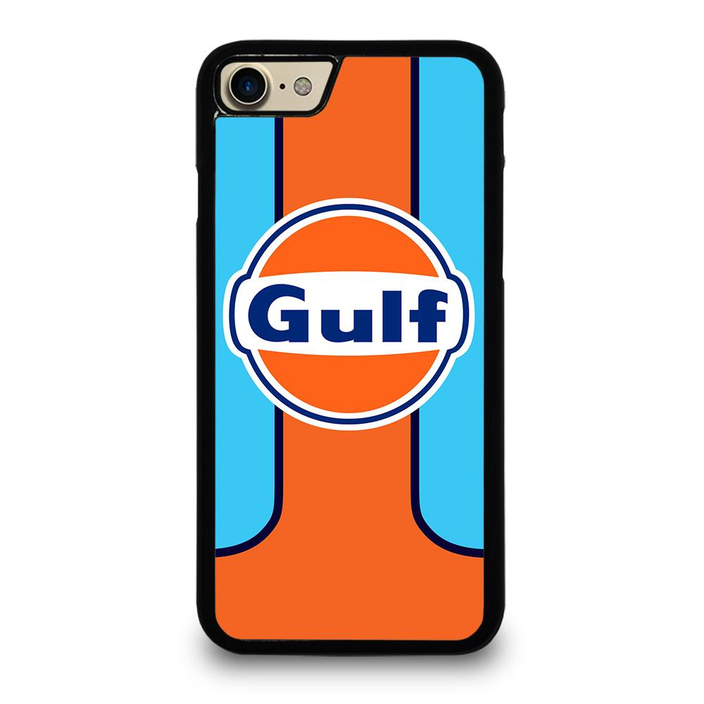 coque custodia cover fundas iphone 11 pro max 5 6 7 8 plus x xs xr se2020 C20362 GULF OIL MOTOR LOGO iPhone 7 / 8 Case