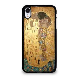 coque custodia cover fundas iphone 11 pro max 5 6 7 8 plus x xs xr se2020 C20408 GUSTAV KLIMT THE KISS iPhone XR Case