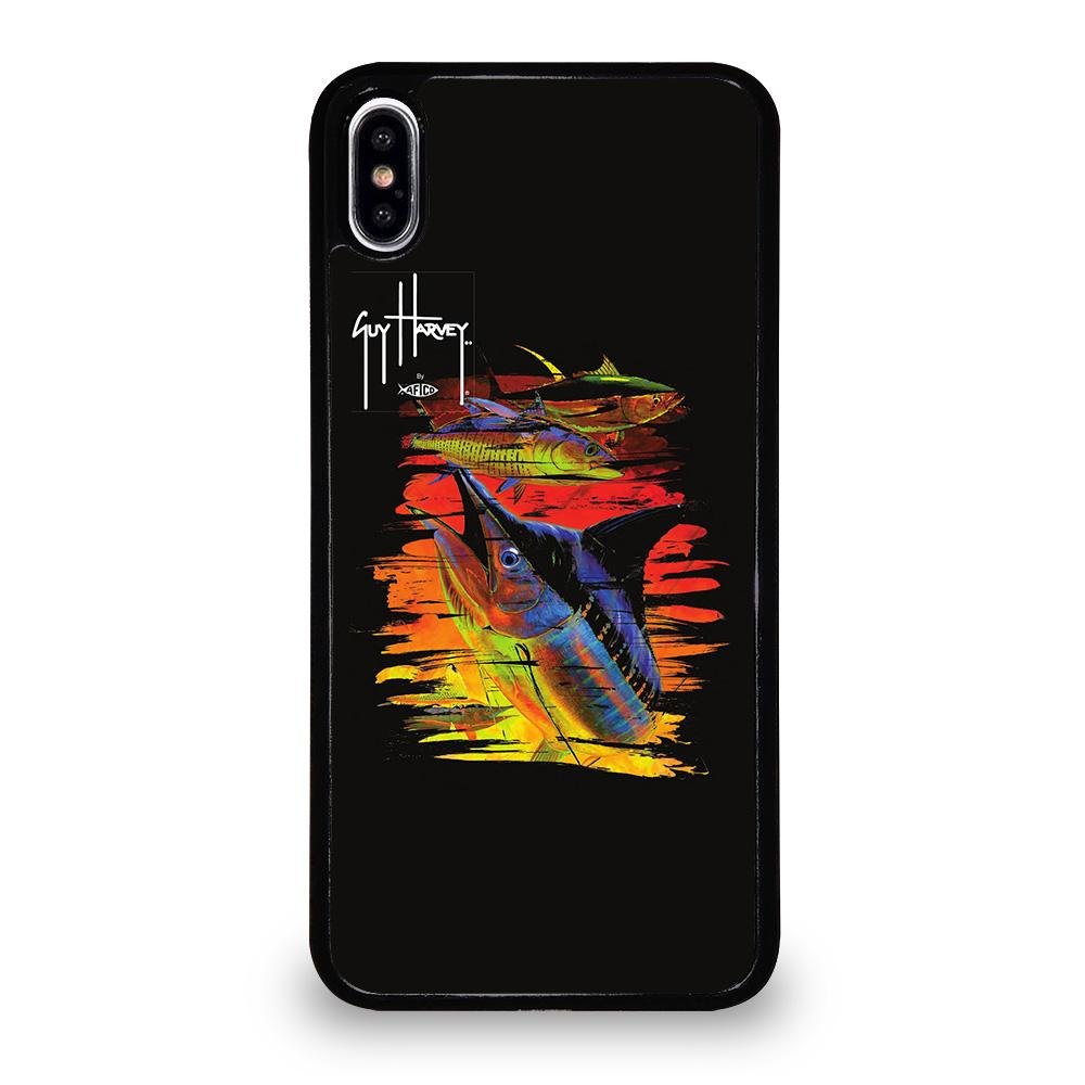 coque custodia cover fundas iphone 11 pro max 5 6 7 8 plus x xs xr se2020 C20441 GUY HARVEY ISLAND MARLIN BOAT iPhone XS Max Case