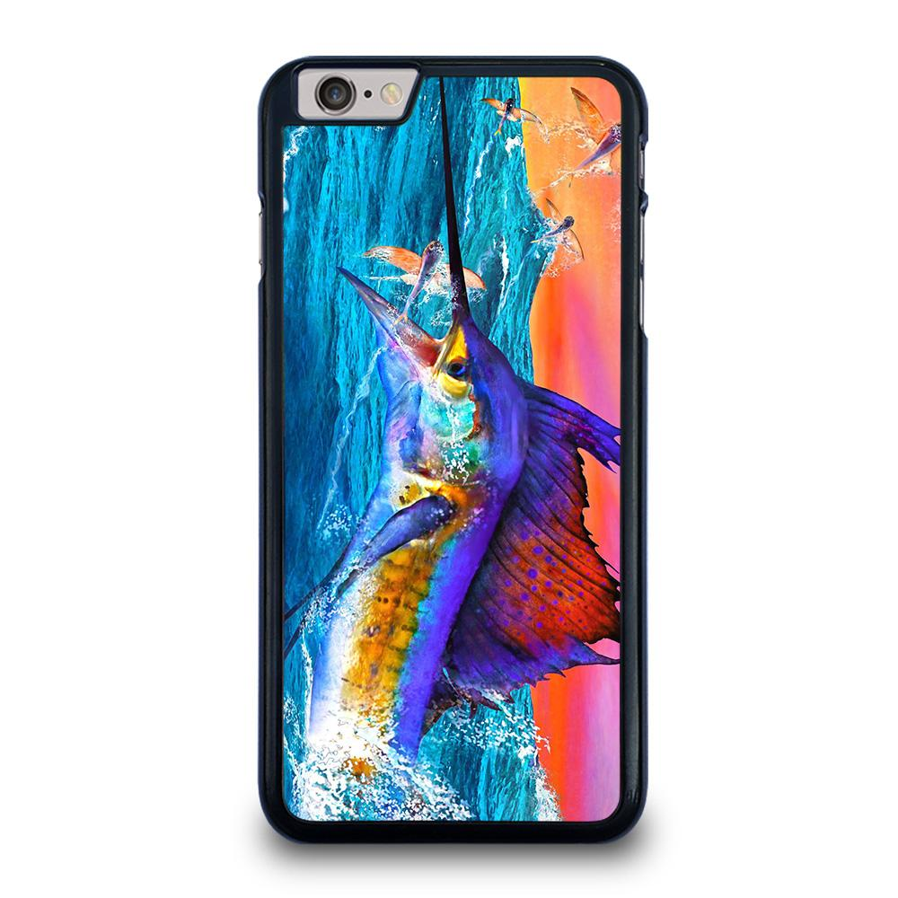 coque custodia cover fundas iphone 11 pro max 5 6 7 8 plus x xs xr se2020 C20425 GUY HARVEY ISLAND MARLIN BOAT #1 iPhone 6 / 6S Plus Case
