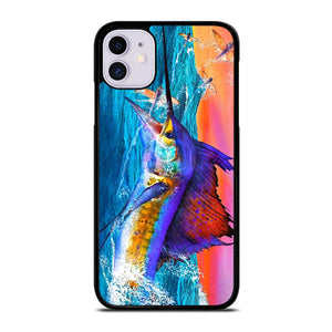 coque custodia cover fundas iphone 11 pro max 5 6 7 8 plus x xs xr se2020 C20420 GUY HARVEY ISLAND MARLIN BOAT #1 iPhone 11 Case