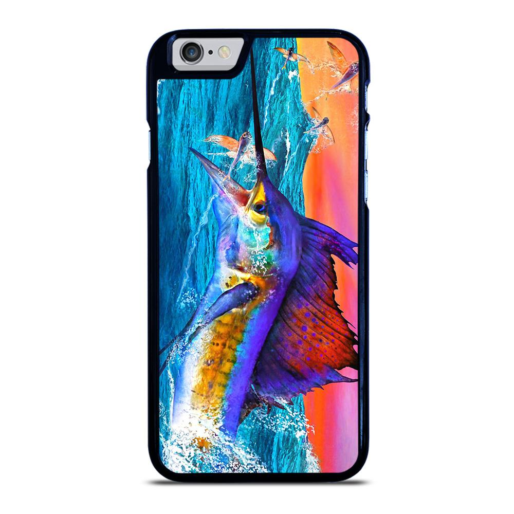 coque custodia cover fundas iphone 11 pro max 5 6 7 8 plus x xs xr se2020 C20424 GUY HARVEY ISLAND MARLIN BOAT #1 iPhone 6 / 6S Case