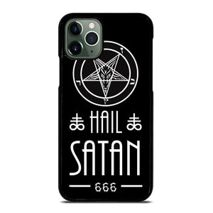 coque custodia cover fundas iphone 11 pro max 5 6 7 8 plus x xs xr se2020 C20444 HAIL SATAN DESIGN iPhone 11 Pro Max Case