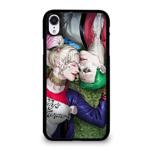 coque custodia cover fundas iphone 11 pro max 5 6 7 8 plus x xs xr se2020 C20687 HARLEY QUINN & JOKER LOVE #1 iPhone XR Case