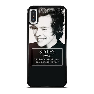coque custodia cover fundas iphone 11 pro max 5 6 7 8 plus x xs xr se2020 C20758 HARRY STYLES 94 ONE DIRECTIONS #1 iPhone X / XS Case
