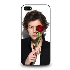 coque custodia cover fundas iphone 11 pro max 5 6 7 8 plus x xs xr se2020 C20795 HARRY STYLES ROSE iPhone 5/5S/SE Case