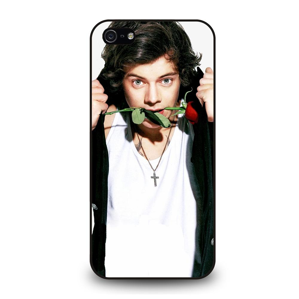 coque custodia cover fundas iphone 11 pro max 5 6 7 8 plus x xs xr se2020 C20784 HARRY STYLES ROSE 1 iPhone 5/5S/SE Case