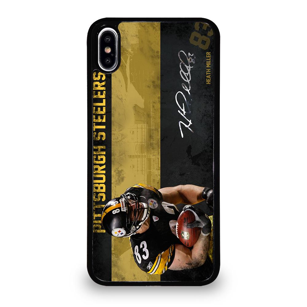 coque custodia cover fundas iphone 11 pro max 5 6 7 8 plus x xs xr se2020 C20942 HEATH MILLER PITTSBURGH STEELERS iPhone XS Max Case