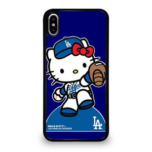 coque custodia cover fundas iphone 11 pro max 5 6 7 8 plus x xs xr se2020 C20975 HELLO KITTY LA DODGERS iPhone XS Max Case