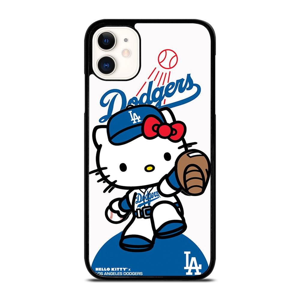 coque custodia cover fundas iphone 11 pro max 5 6 7 8 plus x xs xr se2020 C20954 HELLO KITTY LA DODGERS #5 iPhone 11 Case
