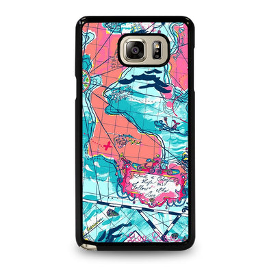 coque custodia cover fundas hoesjes j3 J5 J6 s20 s10 s9 s8 s7 s6 s5 plus edge D31955 LILLY PULITZER MAP Samsung Galaxy Note 5 Case