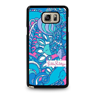 coque custodia cover fundas hoesjes j3 J5 J6 s20 s10 s9 s8 s7 s6 s5 plus edge D31970 LILLY PULITZER SEA JEWELS Samsung Galaxy Note 5 Case