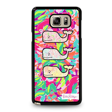 coque custodia cover fundas hoesjes j3 J5 J6 s20 s10 s9 s8 s7 s6 s5 plus edge D32021 LILLY PULITZER WHALE LOGO #1 Samsung Galaxy Note 5 Case