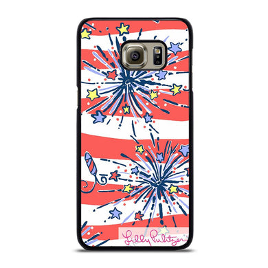 coque custodia cover fundas hoesjes j3 J5 J6 s20 s10 s9 s8 s7 s6 s5 plus edge D31946 LILLY PULITZER JULY 4th #1 Samsung Galaxy S6 Edge Plus Case