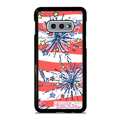 coque custodia cover fundas hoesjes j3 J5 J6 s20 s10 s9 s8 s7 s6 s5 plus edge D31942 LILLY PULITZER JULY 4th #1 Samsung Galaxy S10 e Case