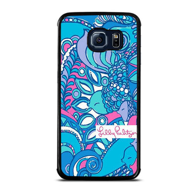 coque custodia cover fundas hoesjes j3 J5 J6 s20 s10 s9 s8 s7 s6 s5 plus edge D31978 LILLY PULITZER SEA JEWELS Samsung Galaxy S6 Edge Case