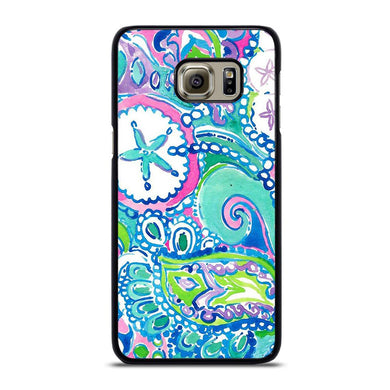 coque custodia cover fundas hoesjes j3 J5 J6 s20 s10 s9 s8 s7 s6 s5 plus edge D31997 LILLY PULITZER STAR Samsung Galaxy S6 Edge Plus Case