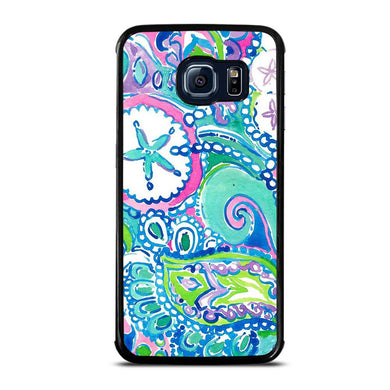 coque custodia cover fundas hoesjes j3 J5 J6 s20 s10 s9 s8 s7 s6 s5 plus edge D31996 LILLY PULITZER STAR Samsung Galaxy S6 Edge Case