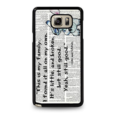 coque custodia cover fundas hoesjes j3 J5 J6 s20 s10 s9 s8 s7 s6 s5 plus edge D32088 LILO AND STITCH QUOTES DISNEY Samsung Galaxy Note 5 Case