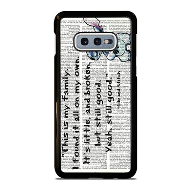 coque custodia cover fundas hoesjes j3 J5 J6 s20 s10 s9 s8 s7 s6 s5 plus edge D32093 LILO AND STITCH QUOTES DISNEY Samsung Galaxy S10 e Case