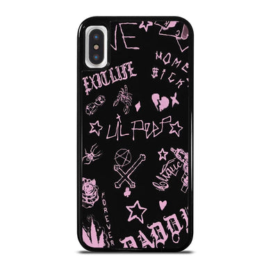 coque custodia cover fundas iphone 11 pro max 5 6 7 8 plus x xs xr se2020 C24252 LIL PEEP LIFE IS BEAUTIFUL iPhone X / XS Case