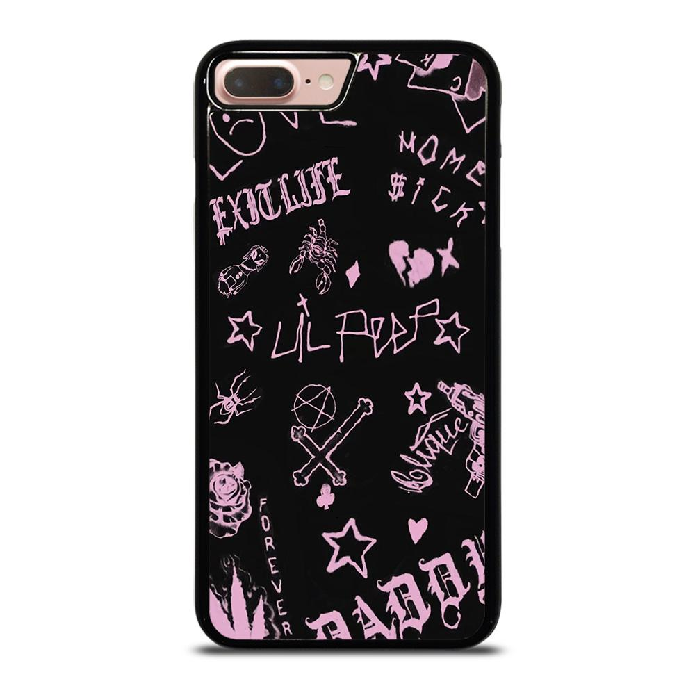 coque custodia cover fundas iphone 11 pro max 5 6 7 8 plus x xs xr se2020 C24251 LIL PEEP LIFE IS BEAUTIFUL iPhone 7 / 8 Plus Case