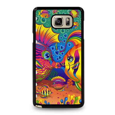 coque custodia cover fundas hoesjes j3 J5 J6 s20 s10 s9 s8 s7 s6 s5 plus edge D32220 LISA FRANK FISH Samsung Galaxy Note 5 Case
