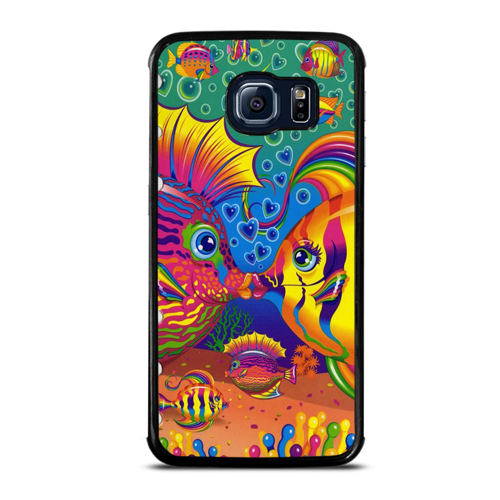 coque custodia cover fundas hoesjes j3 J5 J6 s20 s10 s9 s8 s7 s6 s5 plus edge D32227 LISA FRANK FISH Samsung Galaxy S6 Edge Case