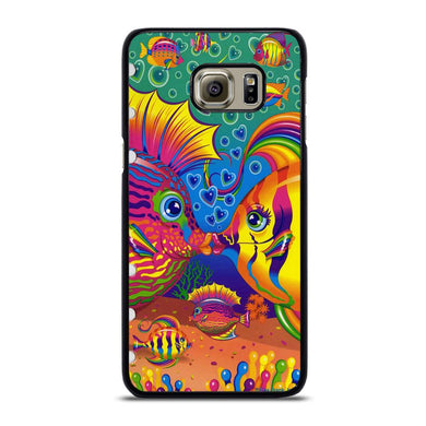 coque custodia cover fundas hoesjes j3 J5 J6 s20 s10 s9 s8 s7 s6 s5 plus edge D32228 LISA FRANK FISH Samsung Galaxy S6 Edge Plus Case