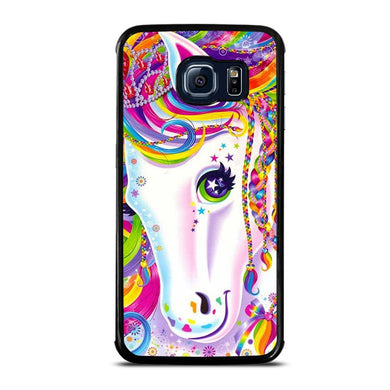 coque custodia cover fundas hoesjes j3 J5 J6 s20 s10 s9 s8 s7 s6 s5 plus edge D32259 LISA FRANK HORSE #1 Samsung Galaxy S6 Edge Case