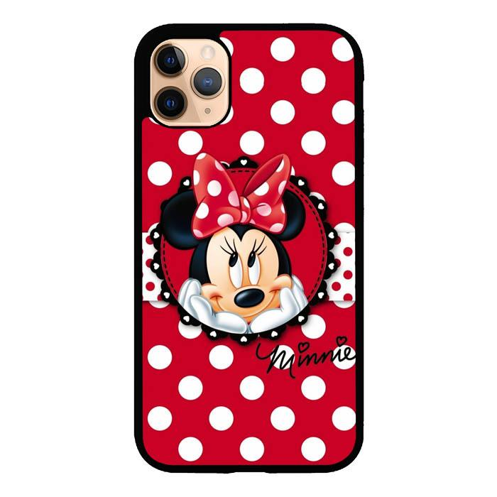 coque custodia cover case fundas hoesjes iphone 11 pro max 5 6 6s 7 8 plus x xs xr se2020 pas cher X8764 Disney Minie With Polkadot Background S0227