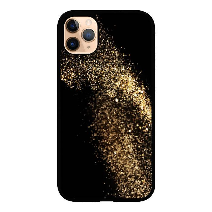 coque custodia cover case fundas hoesjes iphone 11 pro max 5 6 6s 7 8 plus x xs xr se2020 pas cher X8464 Black Sparkle S0404