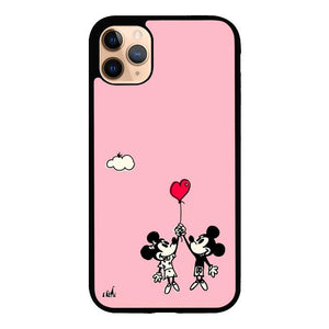 coque custodia cover case fundas hoesjes iphone 11 pro max 5 6 6s 7 8 plus x xs xr se2020 pas cher X8761 Disney Mickey and Minie S0539