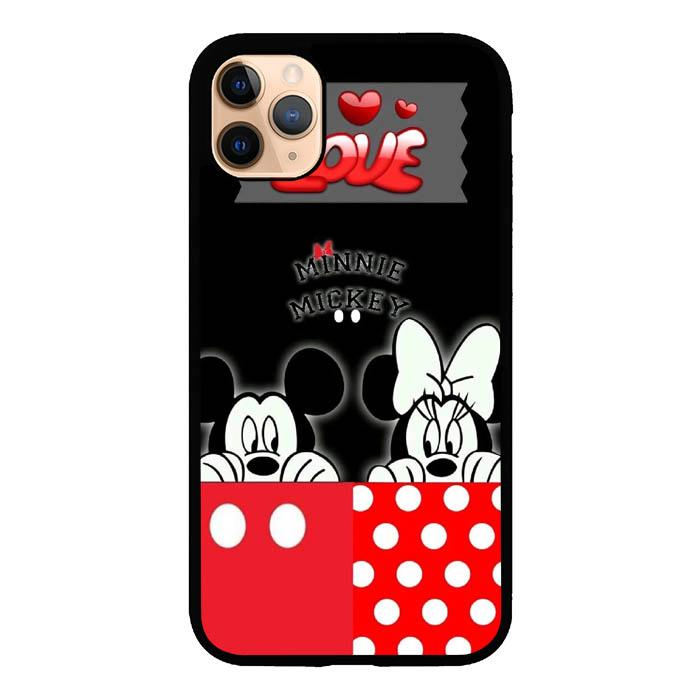 coque custodia cover case fundas hoesjes iphone 11 pro max 5 6 6s 7 8 plus x xs xr se2020 pas cher X8762 Disney Mickey and Minnie Mouse S0544