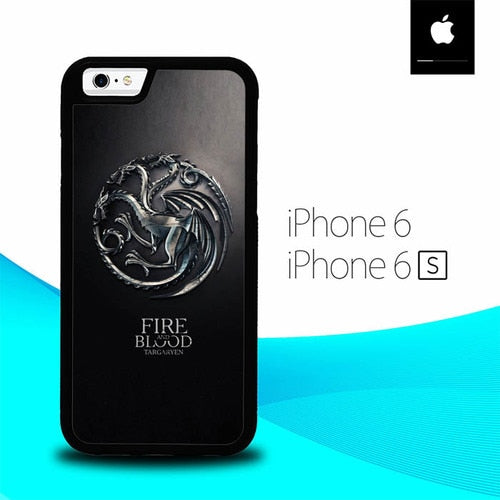 Fire And Blood Targaryen O0845 fundas iPhone 6, iPhone 6S