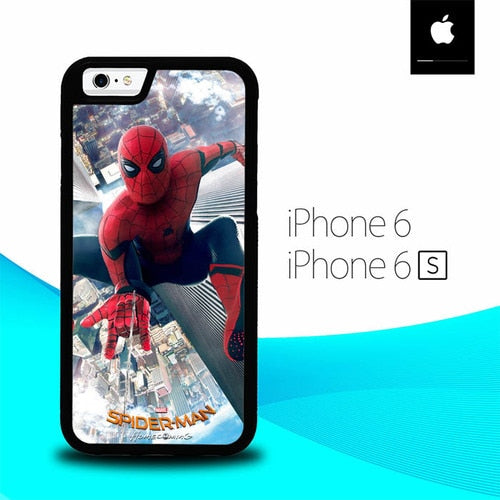 Spiderman Jump The Sky O0949 fundas iPhone 6, iPhone 6S